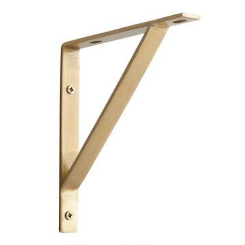 Gold Metal Mix & Match Shelf Brackets Set of 2